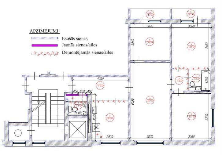 4-ist. dzīvokļa pārplānošana / 602 sērija