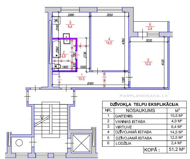 Перепланировка 2-х комнатной хрущевки - Стильный дизайн