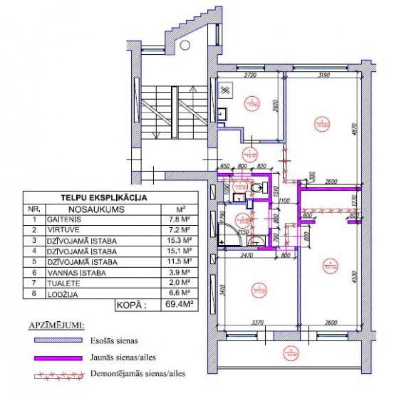 3-ist. dzīvokļa pārplānošana (103. sērija)
