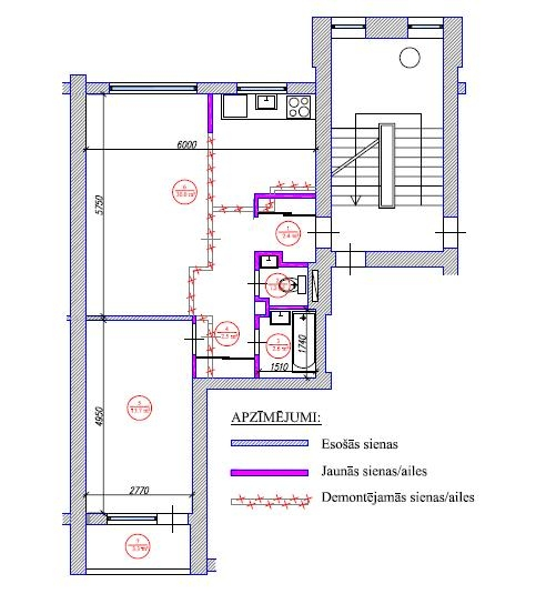 2-ist. dzīvokļa pārplānošana (103. sērija)