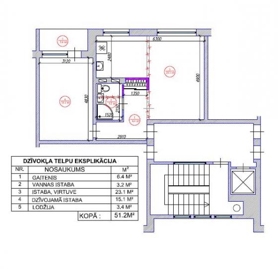 2-ist. dzīvokļa pārplānošana 467. sērija