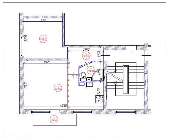 1.5 istabu dzīvokļa pārplānošana 1-467A sērija