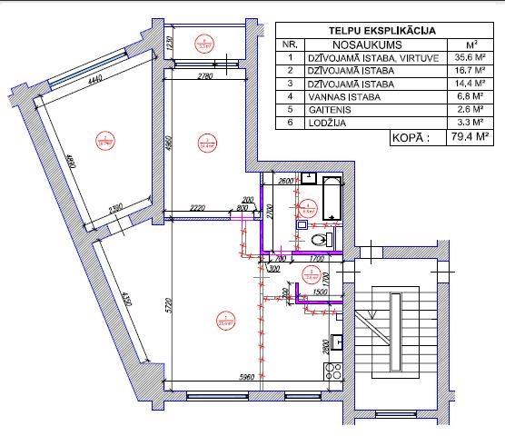 3-ist. dzīvokļa pārplānošana 103. sērija