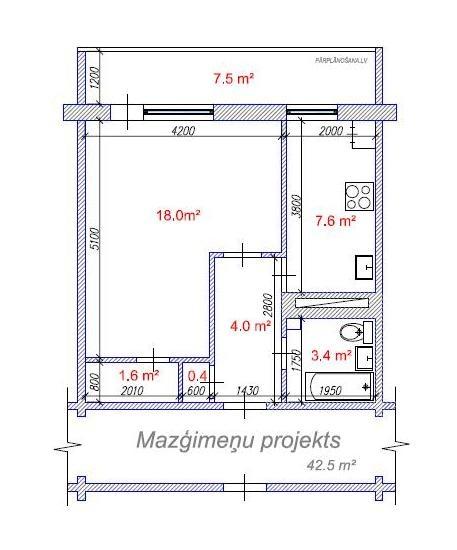 Dzīvokļa plāns / Mazģimeņu projekts