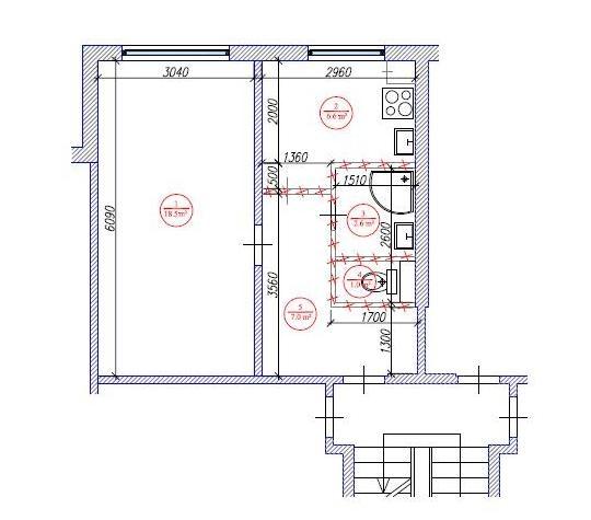 1-ist. dzīvokļa pārplānošana / 602 sērija