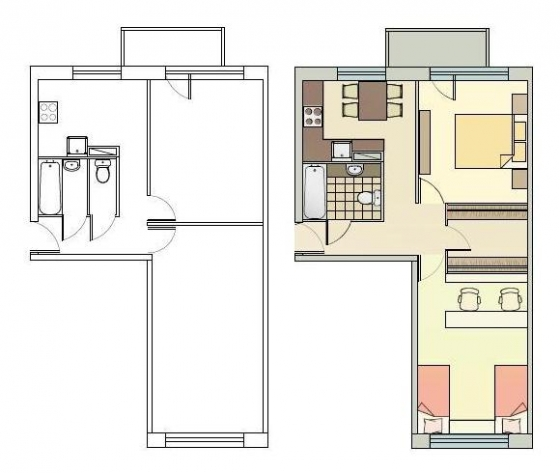 2 istabu dzīvoklis 1-467A. sērija