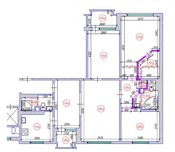 119 sērijas 4 ist. dzīvokļa pārplānošana