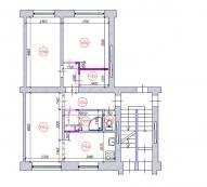 Hruščovka 3-ist. dzīvokļa pārplānošana