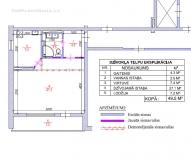 1-ist. dzīvokļa pārplānošana 104 sērija
