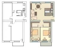 "3 istabu dzīvoklis 318. sēr. ""Hruščovka"""