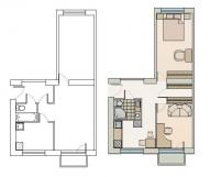 "2 istabu dzīvoklis 316. sēr. ""Hruščovka"""
