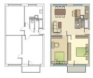 3 istabu dzīvoklis 1-467A. sērija