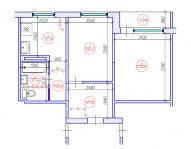 Перепланировка 2 комнатной квартиры / 464 серия Новый литовский проект
