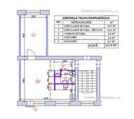 2-ist. dzīvokļa pārplānošana Hruščovka