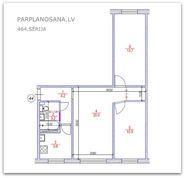 Перепланировка 3-ёх комнатной квартиры 464 серии