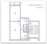 Перепланировка 2-ух комнатной квартиры 464 серии  / Новая литовка