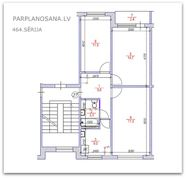 Перепланировка 3-ёх комнатной квартиры 464 серии  / Новая литовка