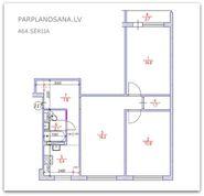Перепланировка 3-ех комнатной квартиры 464 серии  / Новая литовка