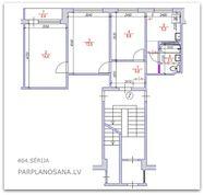 Перепланировка 3-ух комнатной квартиры 464 серии  / Новая литовка