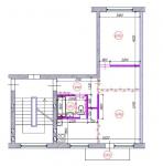 2-ist. dzīvokļa pārplānošana (1-467А sērija)